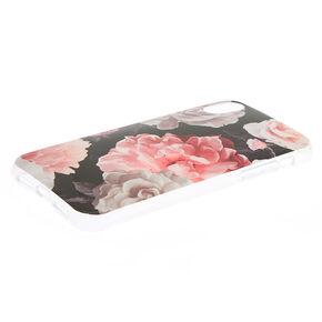 Black Floral Phone Case - Fits iPhone X/XS,