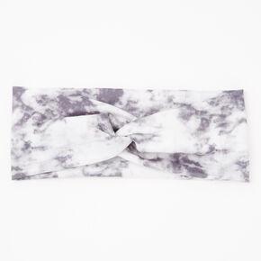 Tie Dye Twist Headwrap - Grey,