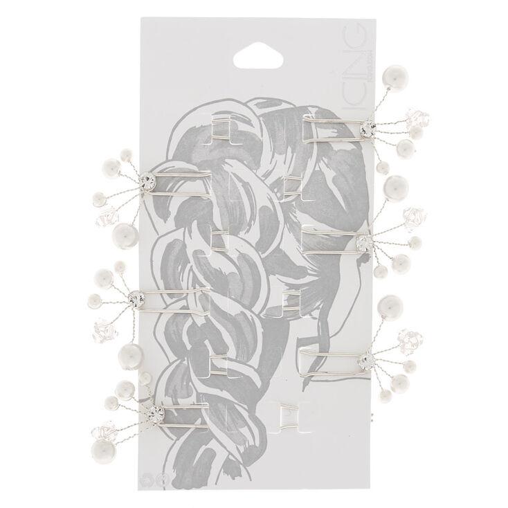 Silver Pearl Hair Pin,