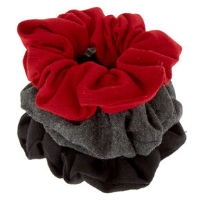 Small Neutral Burgundy Hair Scrunchies - 3 Pack,