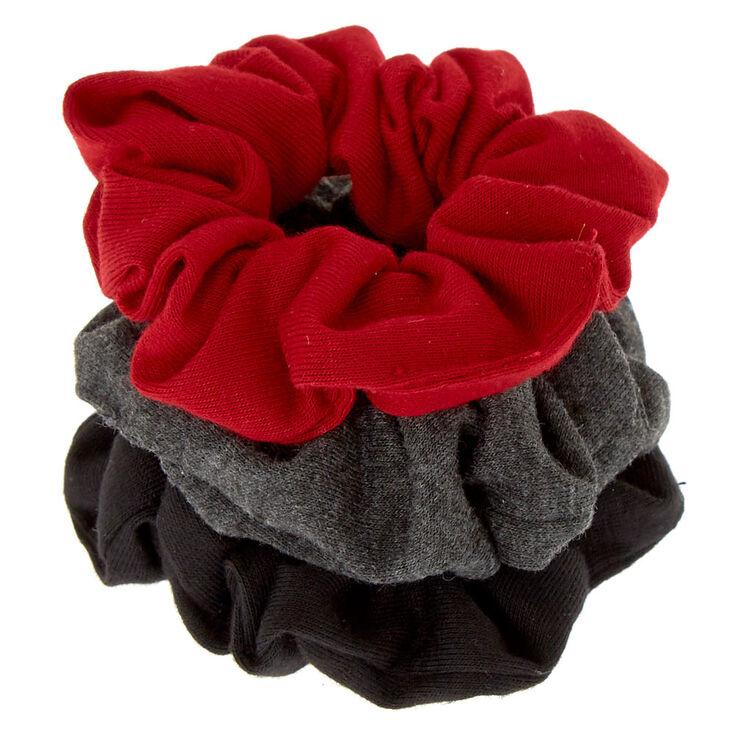 Small Neutral Burgundy Hair Scrunchies - 3 Pack,