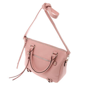 Faux Leather Olivia Crossbody Handbag - Blush,