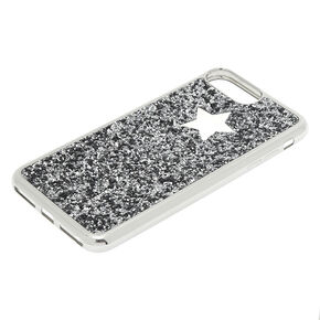 Glitter Star Phone Case - Silver,