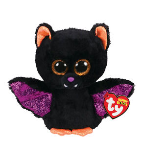 Ty Beanie Boo Small Raven the Bat Plush Toy,