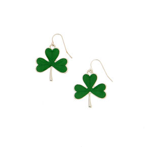 St. Patrick's Day Shamrock Drop Earrings,