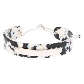 Resin Cuff Bracelet - Black,