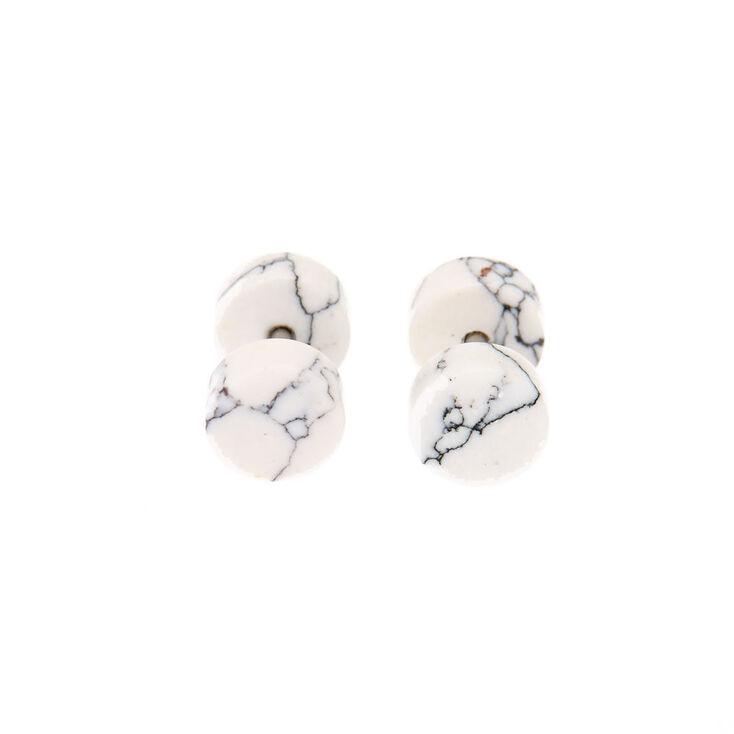 14G Marble Faux Ear Plugs,
