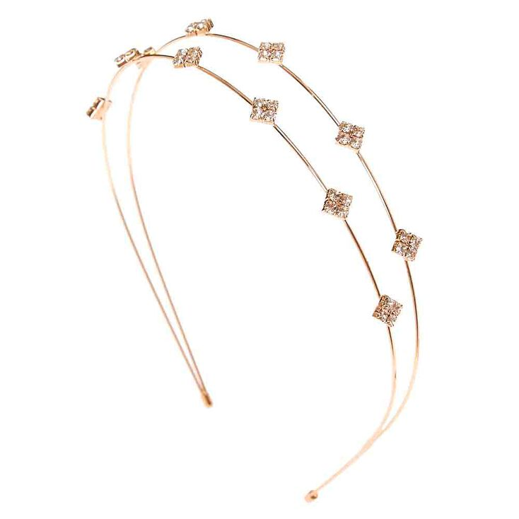 Diamond Shaped Double Row Headband,