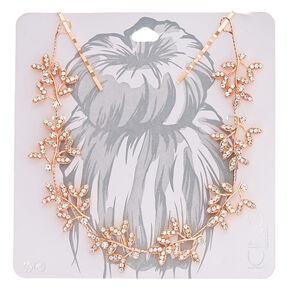 Rose Gold Leaf Vine Hair Swag,