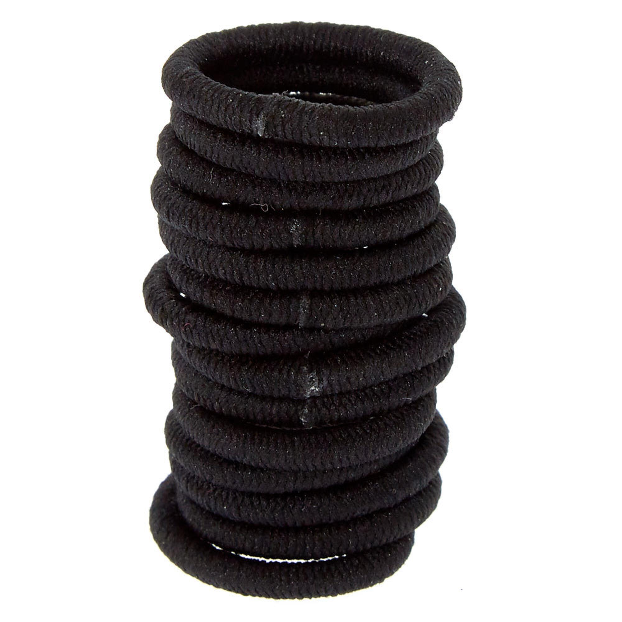 Scunci Reg Fine Hair Ponytail Holders Black