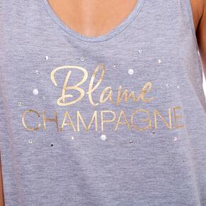 Blame Champagne Tank Top - Gray,