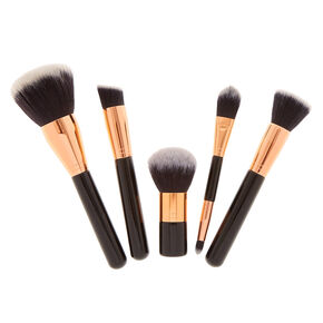 5 Pc Rose Gold Cosmetic Brush Set,