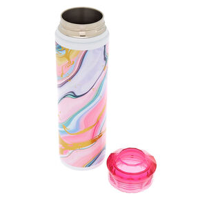 Pastel Marble Foil Water Bottle,