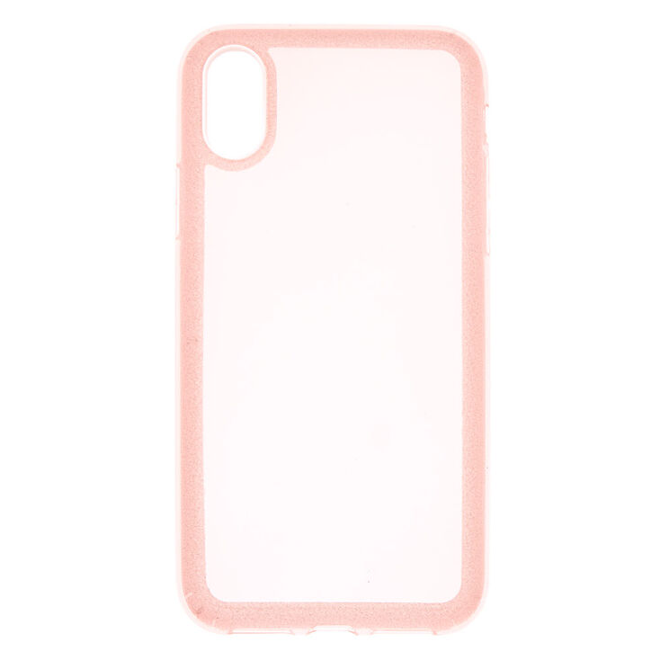 Pink Glitter Border Phone Case - Fits iPhone X/XS,