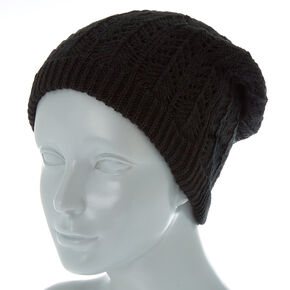 Double Layer Knit Beanie - Black 9939491ad84