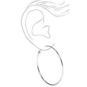 Silver 50MM Hoop Earrings,
