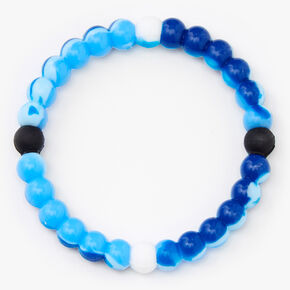 Marble Swirl Fortune Stretch Bracelet - Blue,