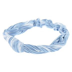 Light Blue Satin Knotted Headwrap,