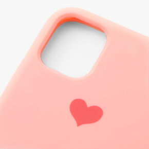 Pink Heart Phone Case - Fits iPhone 11,