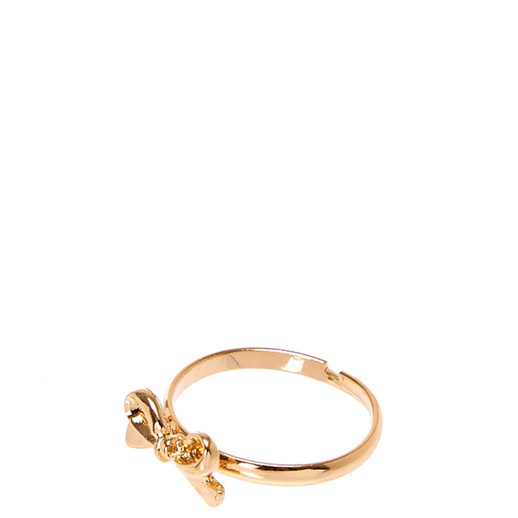 Gold Bow-Tie Ring,