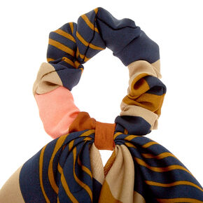 Rustic Striped Scarf Hair Scrunchie,