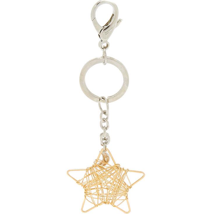 Star Wire Keychain - Gold,