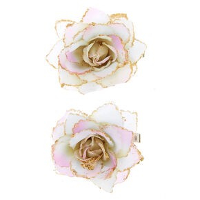 Pastel Ombre Mini Hair Flowers - 2 Pack,
