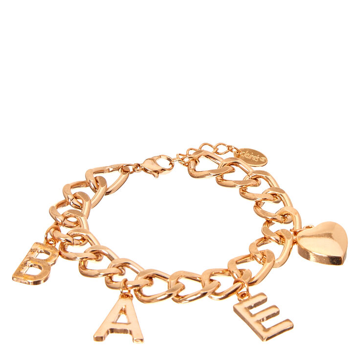 Rose Gold-Tone BAE Charm Bracelet,