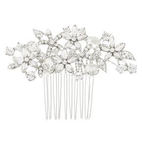 Silver Rhinestone Bouquet Hair Comb,