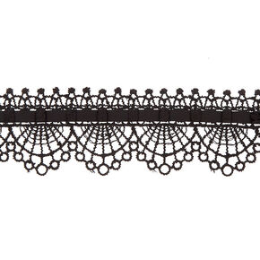 Lace Choker Necklace - Black,
