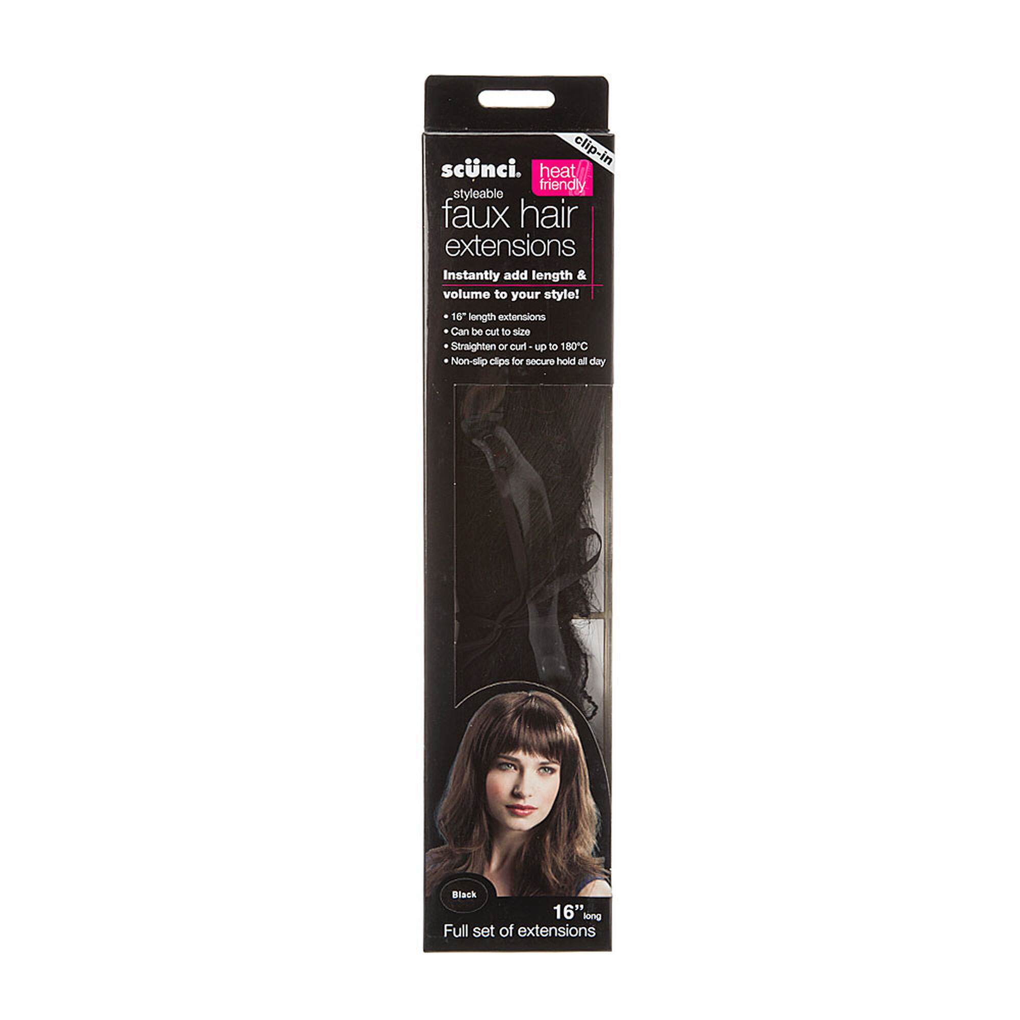 Black Styleable Faux Hair Extensions Icing Us