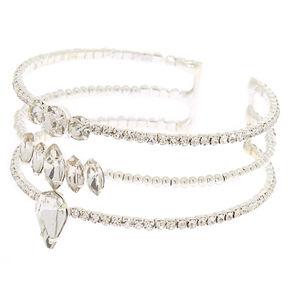 Silver Embellished Cuff Bracelet,
