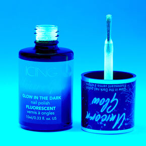 Unicorn Glow In The Dark Nail Polish - Blue,