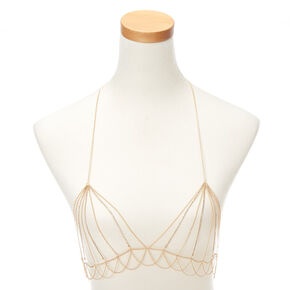 Gold Embellished Body Chain,