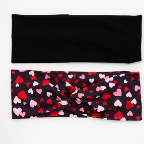 Valentine's Day Heart Printed Headwrap - 2 Pack,