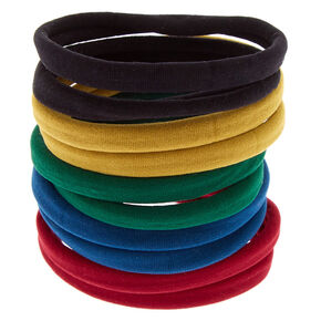 Solid Hair Ties - Blue, 10 Pack,