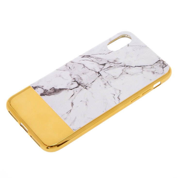 Metallic Gold Bar Marble Phone Case - Fits iPhone X/XS,