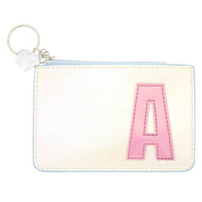Pearlescent Initial Coin Purse - A,