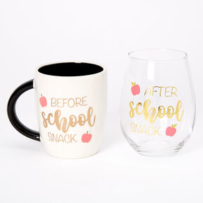 Before School After School Mug & Wine Glass Set - 2 Pack,