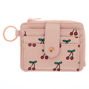 Blushing Cherries Coin Purse - Pink,