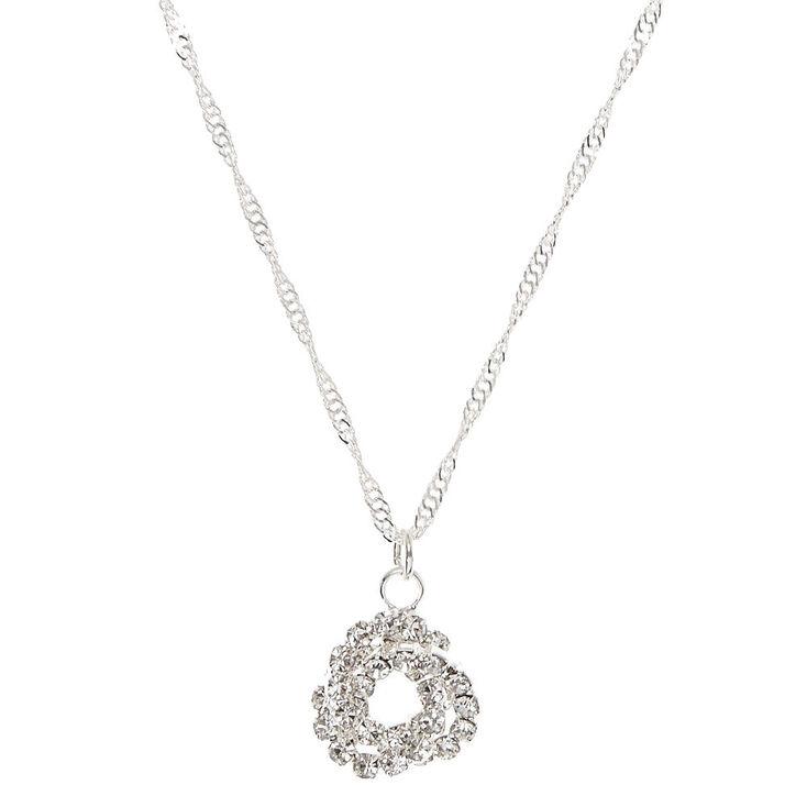 Stone Knot Pendant Necklace,