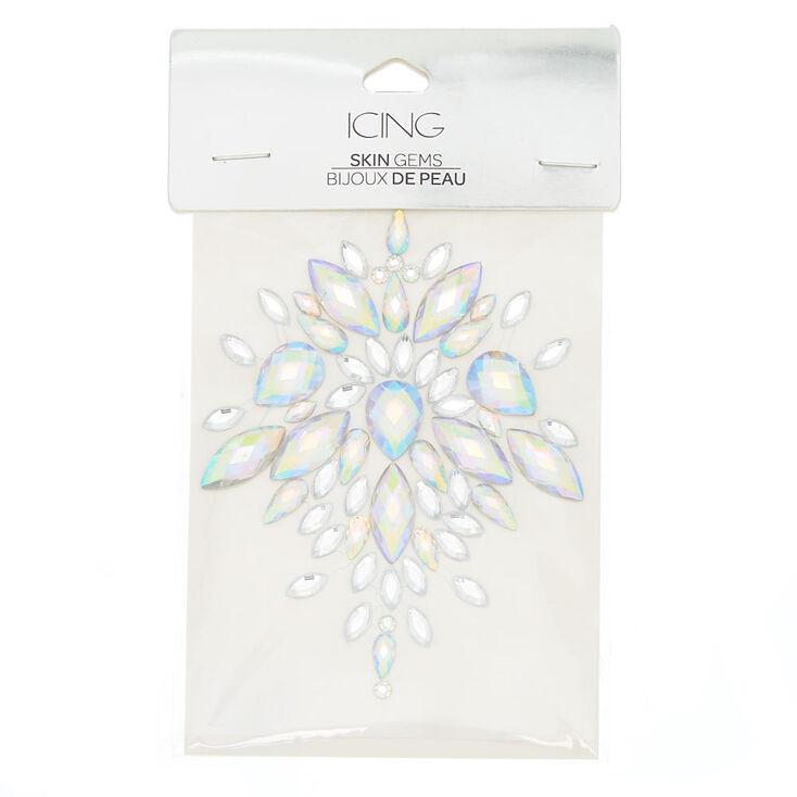 Iridescent Body Gems - Clear,