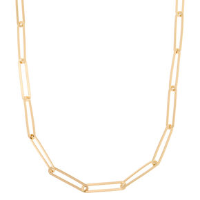 Gold Oval Link Statement Necklace,