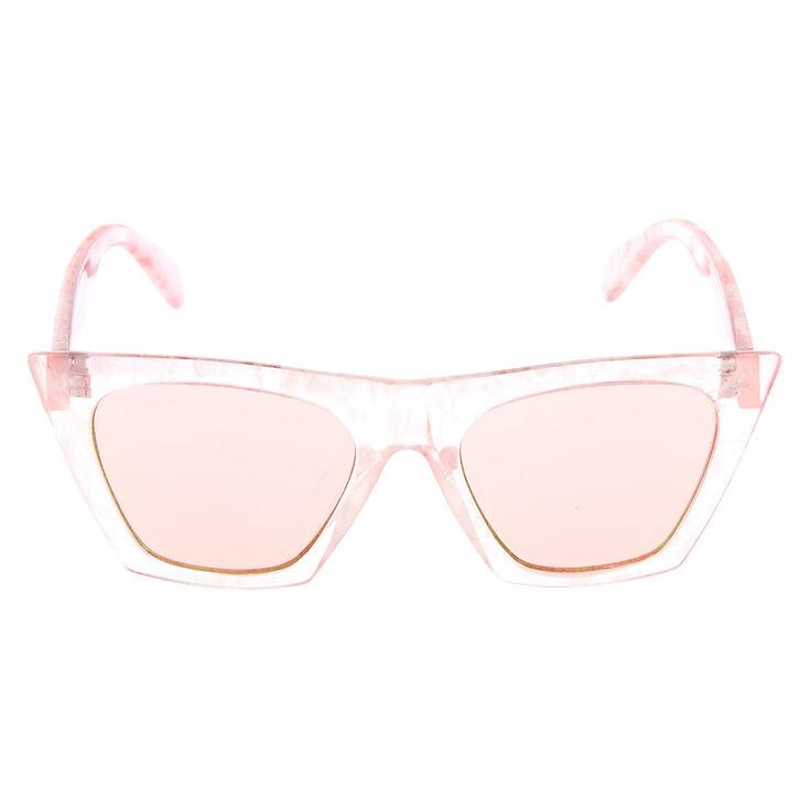 Cat Eye Marble Sunglasses - Pink,