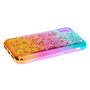 Embellished Ombre Protective Phone Case - Fits iPhone XR,