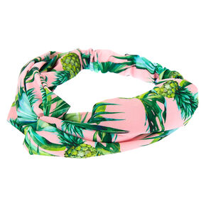 Tropical Pineapple Headwrap - Pale Pink,