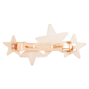Rose Gold Glitter Star Hair Barrette,