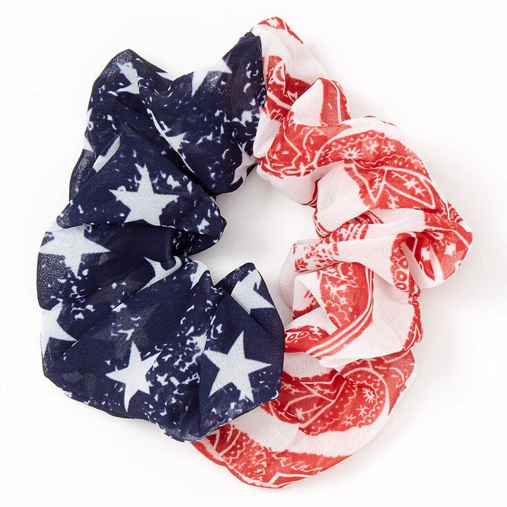 Medium American Flag Paisley Banana Hair Scrunchie,