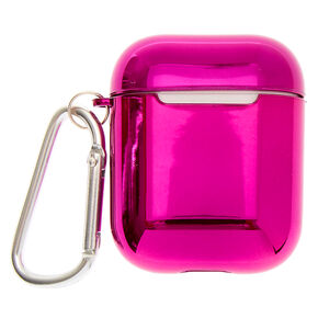 Metallic Magenta Earbud Case Cover - Compatible With Apple AirPods,
