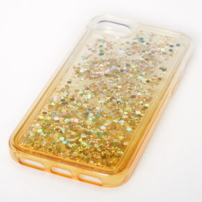 Gold Glitter Star Liquid Fill Phone Case - Fits iPhone 6/7/8/SE,